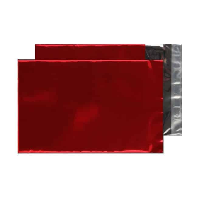 Metallic Red 70 micron 229mm x 162mm Shiny Foil Envelopes (Box Of 250)