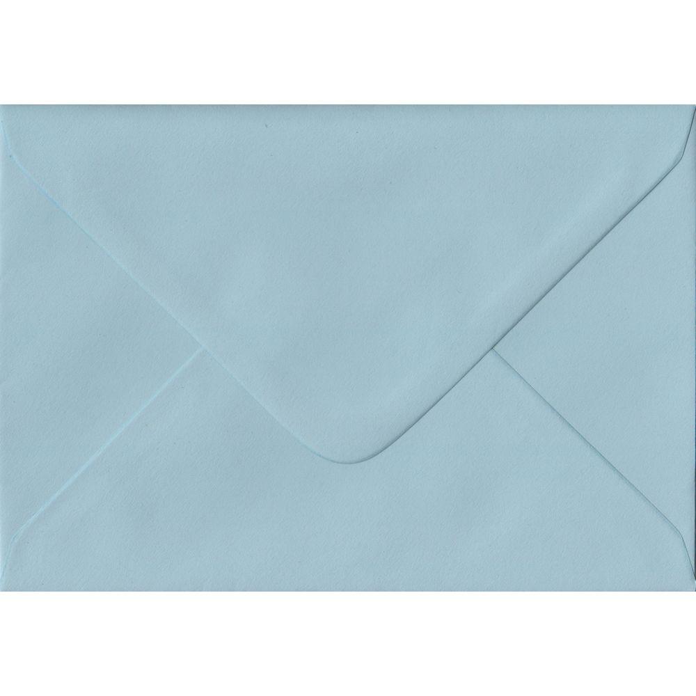 100 A6 Blue Envelopes. Baby Blue. 114mm x 162mm. 100gsm paper. Gummed Flap.