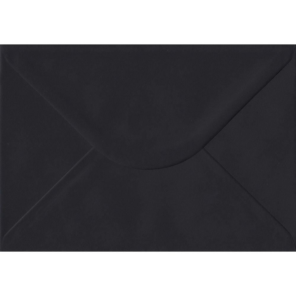100 A5 Black Envelopes. Black. 162mm x 229mm. 100gsm paper. Gummed Flap.