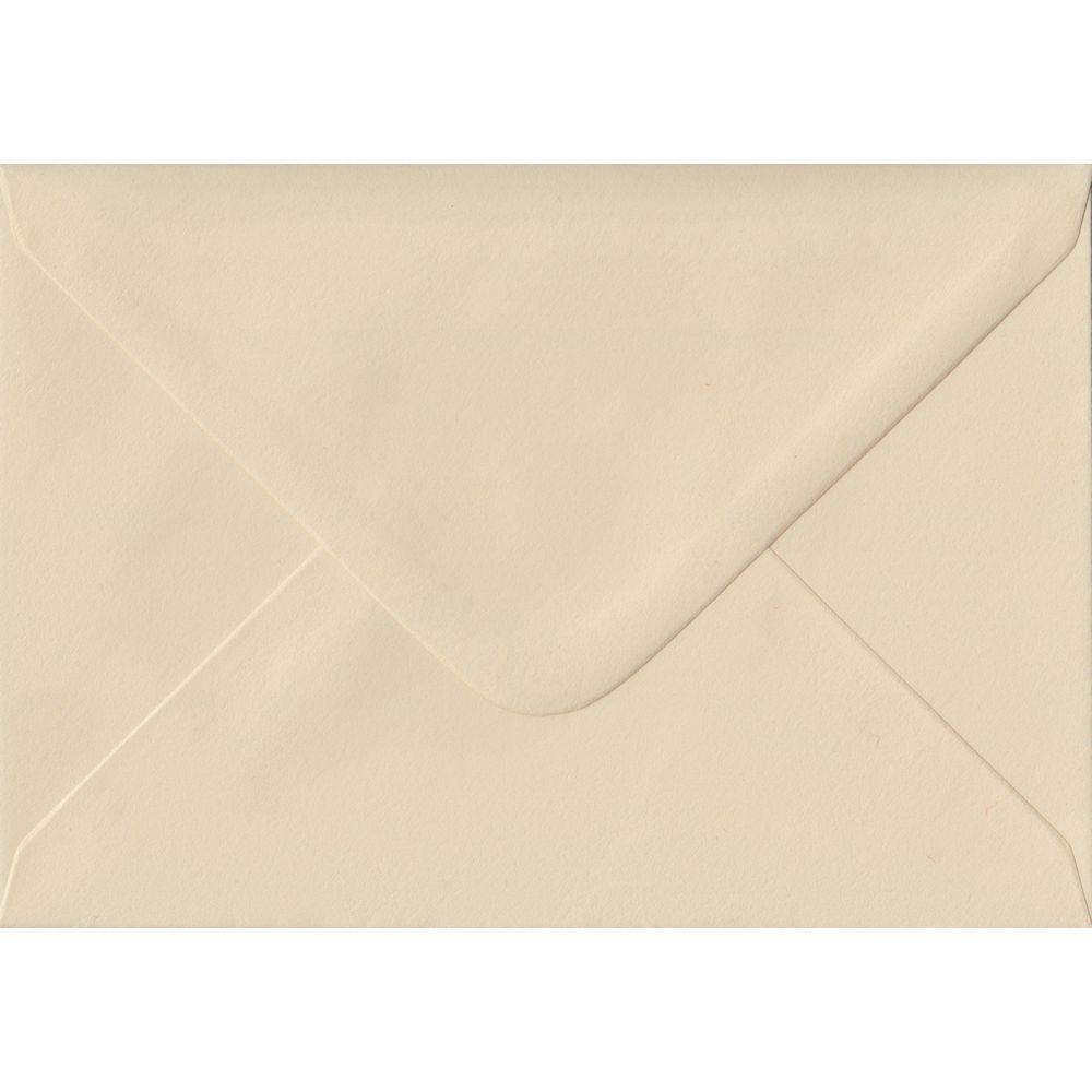 100 A6 Cream Envelopes. Cream. 114mm x 162mm. 100gsm paper. Gummed Flap.