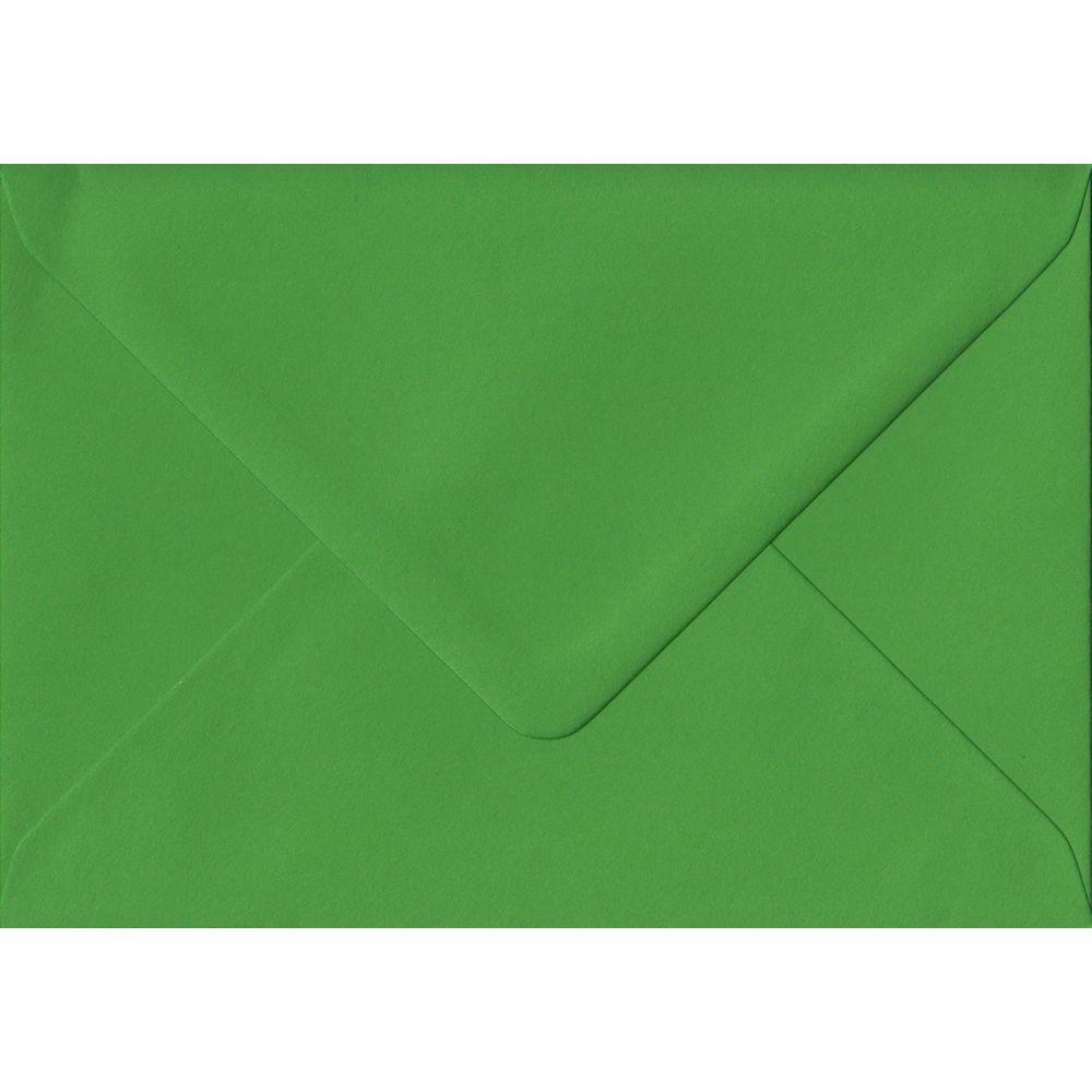 100 A6 Green Envelopes. Fern Green. 114mm x 162mm. 100gsm paper. Gummed Flap.