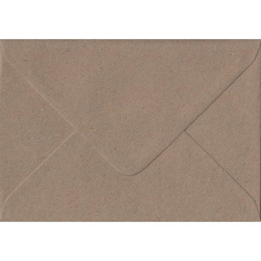 100 A6 Kraft Envelopes. Recycled Fleck. 114mm x 162mm. 100gsm paper. Gummed Flap.