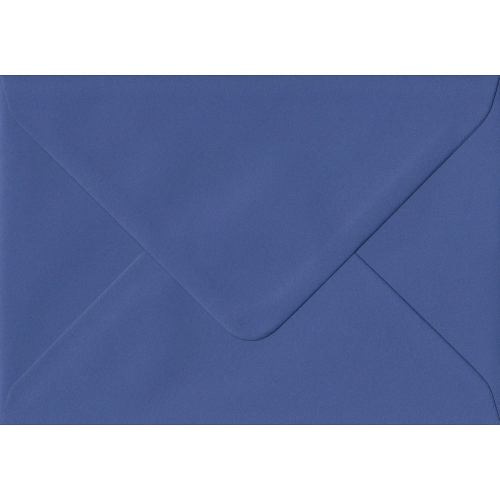 100 A6 Blue Envelopes. Iris Blue. 114mm x 162mm. 100gsm paper. Gummed Flap.