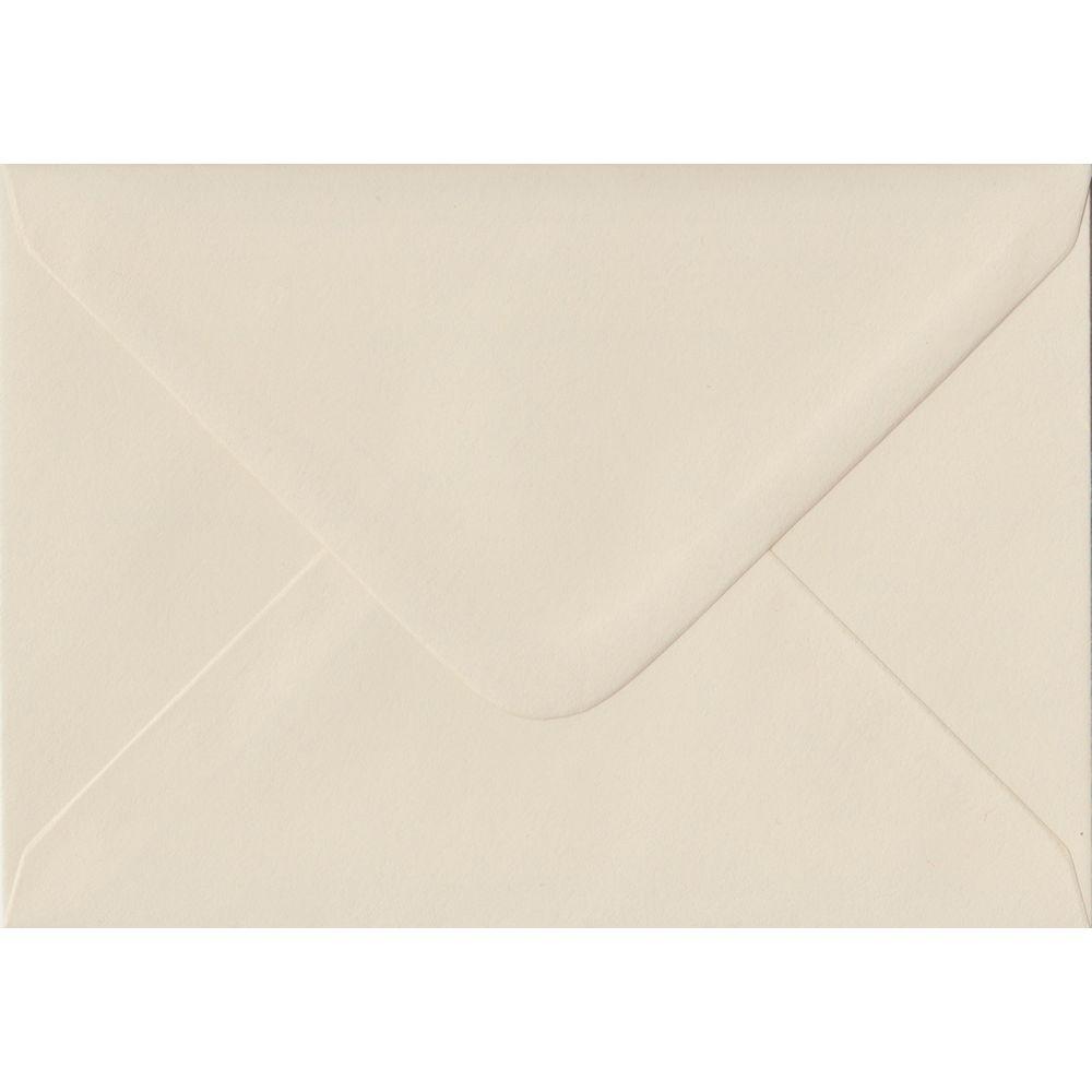 100 A6 Cream Envelopes. Ivory. 114mm x 162mm. 100gsm paper. Gummed Flap.