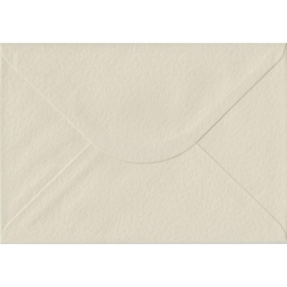 100 A5 Cream Envelopes. Ivory Hammer. 162mm x 229mm. 100gsm paper. Gummed Flap.