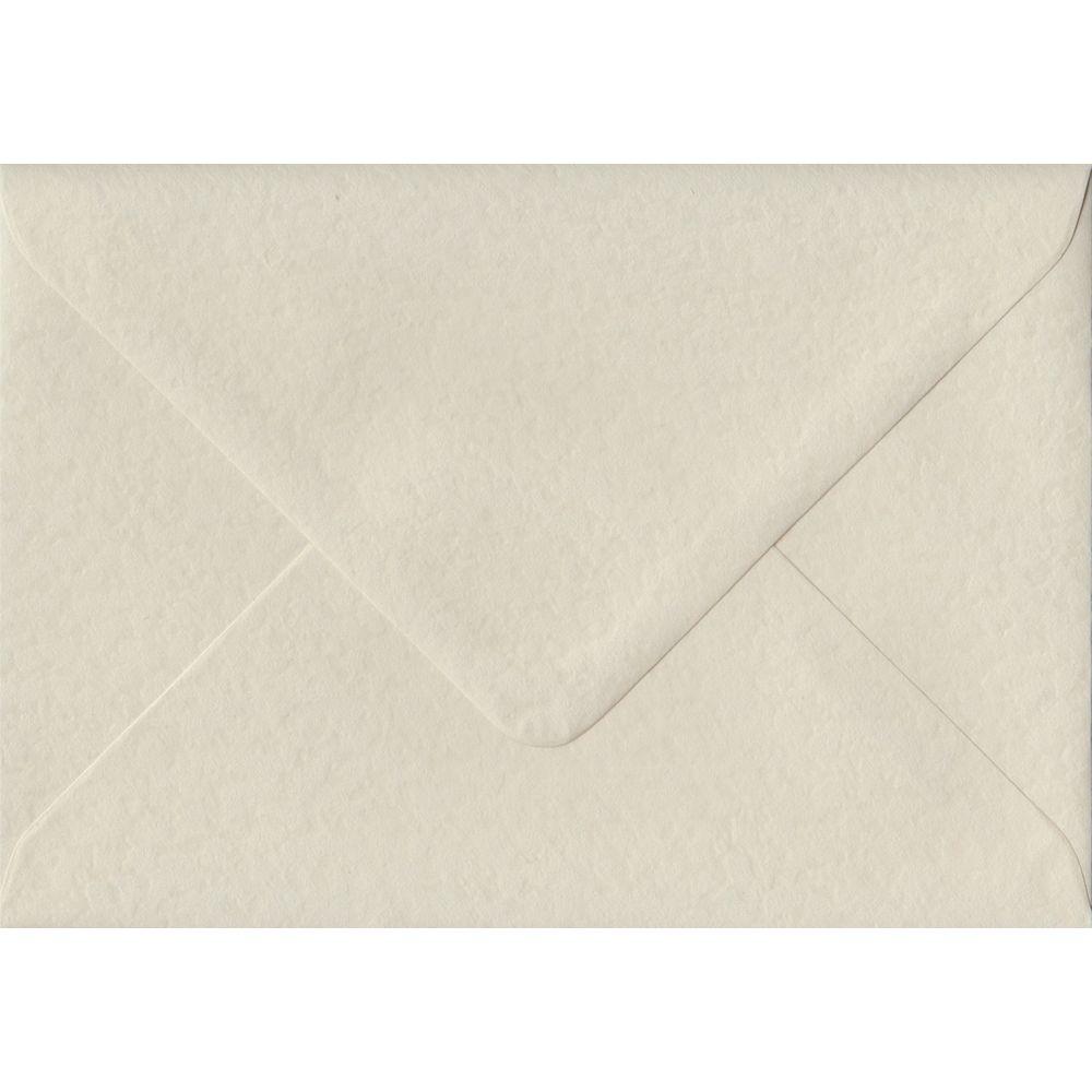 100 A6 Cream Envelopes. Ivory Hammer. 114mm x 162mm. 100gsm paper. Gummed Flap.