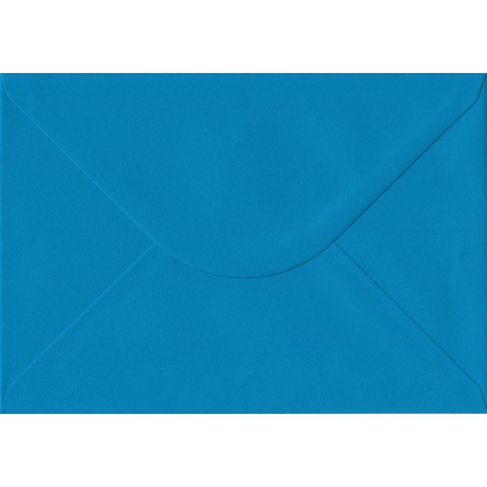 100 A5 Blue Envelopes. Kingfisher Blue. 162mm x 229mm. 100gsm paper. Gummed Flap.