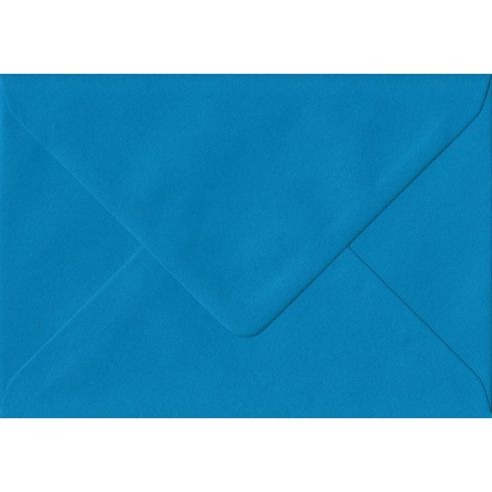 100 A6 Blue Envelopes. Kingfisher Blue. 114mm x 162mm. 100gsm paper. Gummed Flap.