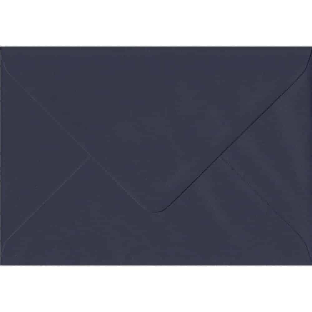 100 A6 Blue Envelopes. Navy Blue. 114mm x 162mm. 100gsm paper. Gummed Flap.