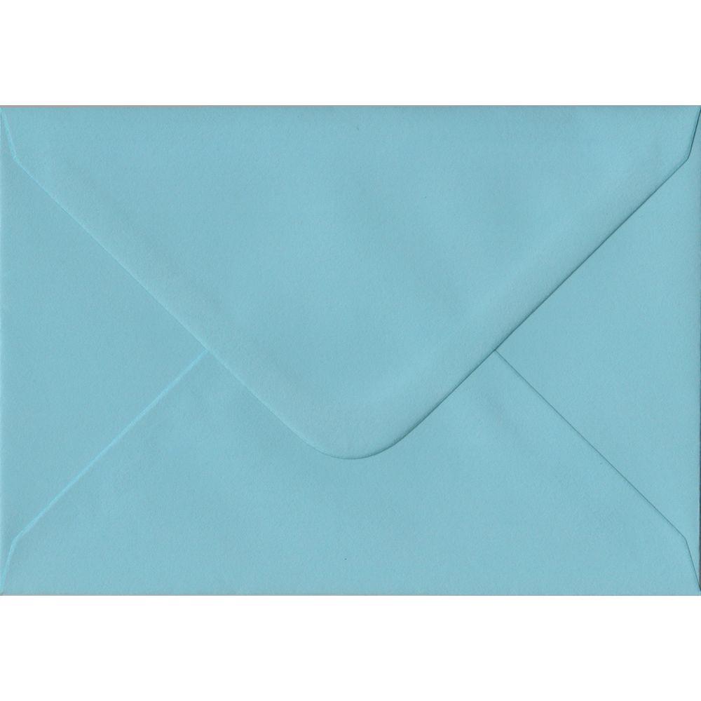 100 A6 Blue Envelopes. Blue. 114mm x 162mm. 100gsm paper. Gummed Flap.