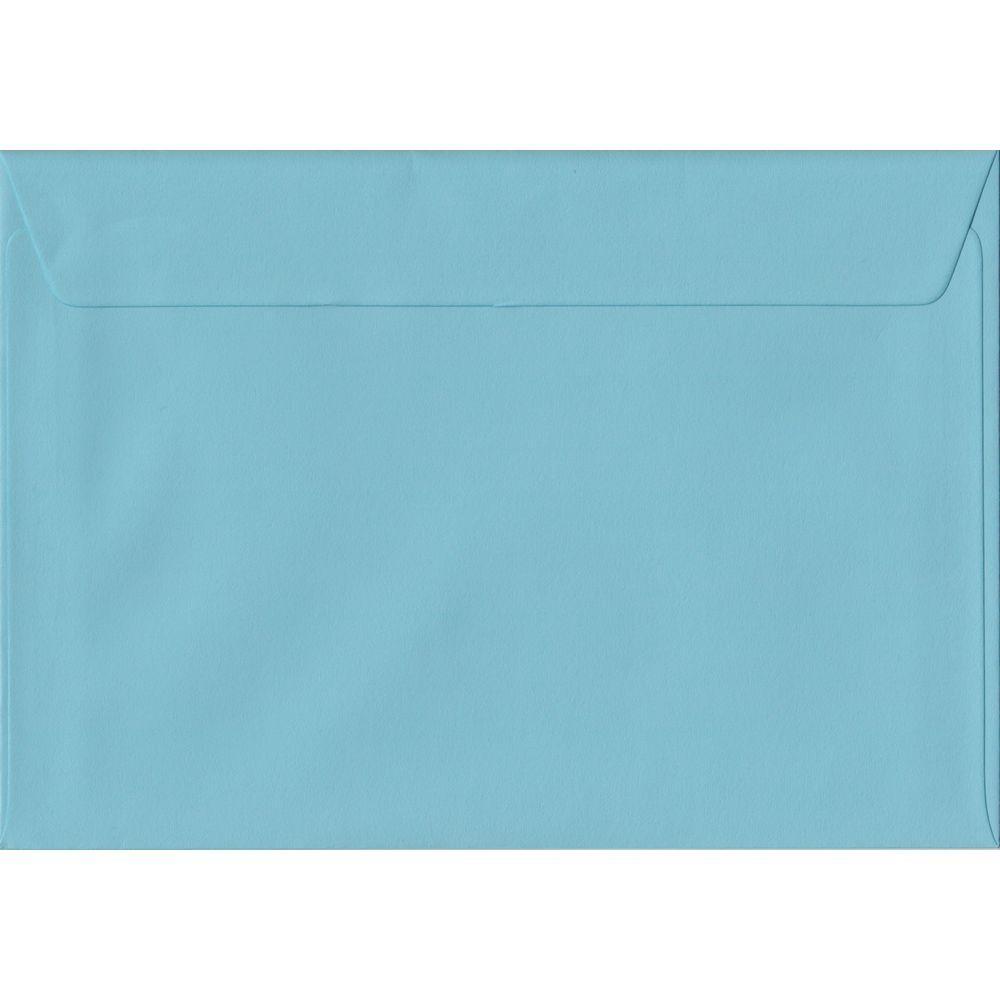 100 A5 Blue Envelopes. Blue. 162mm x 229mm. 100gsm paper. Peel/Seal Flap.