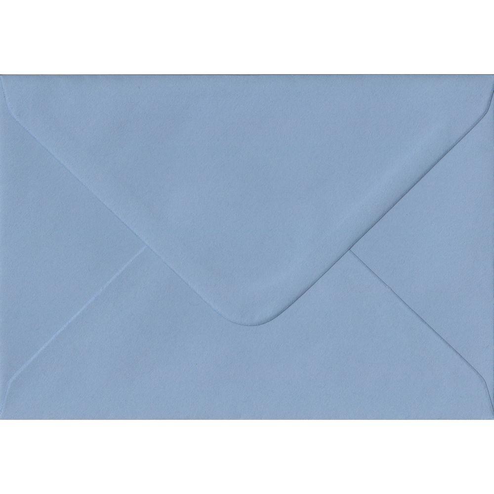 100 A6 Blue Envelopes. Wedgwood Blue. 114mm x 162mm. 100gsm paper. Gummed Flap.