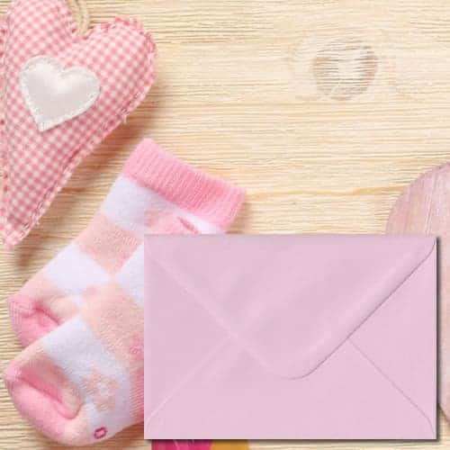 Baby Pink Colour Envelopes