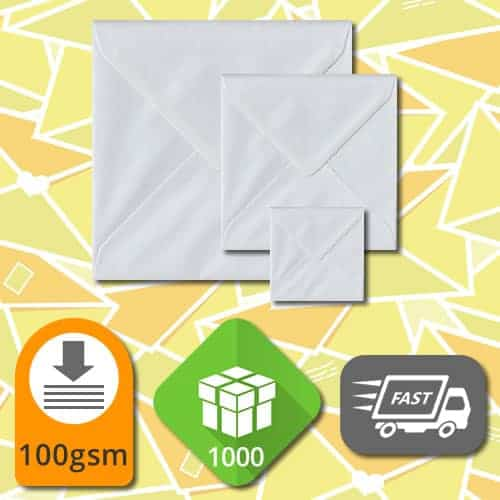 White Square Envelopes