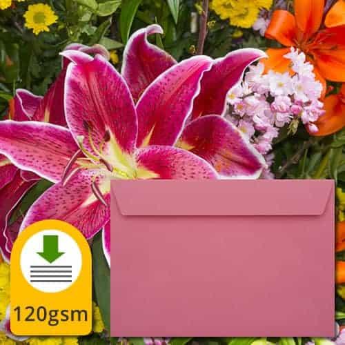 Cerise Pink Luxury Envelopes