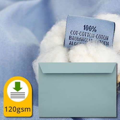 Cotton Blue Luxury Envelopes