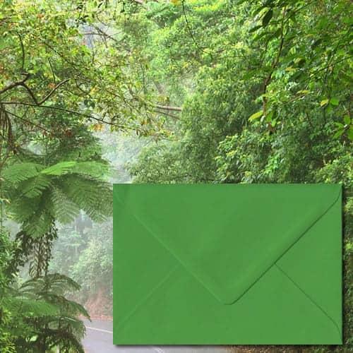 Fern Green Colour Envelopes
