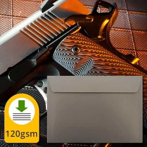 Gunmetal Metallic Envelopes