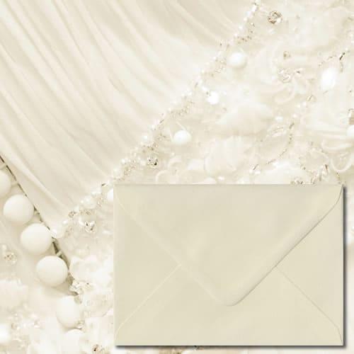 Ivory Laid Textured Envelopes
