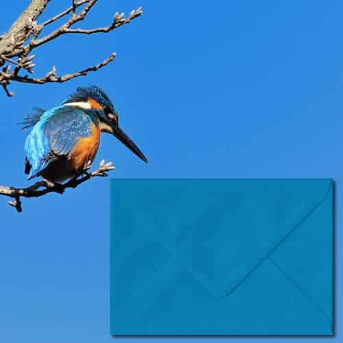 Kingfisher Blue Colour Envelopes