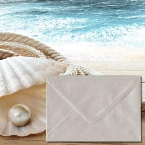 Oyster White Pearl Envelopes