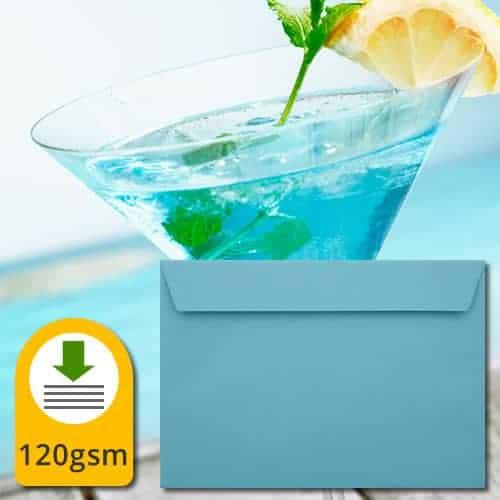 Cocktail Blue Luxury Envelopes