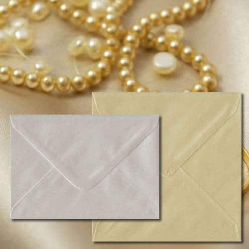 Champagne Pearl Envelopes