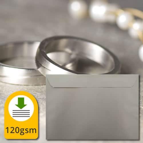 Metallic Silver Luxury Envelopes