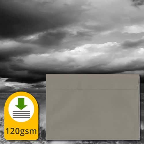 Storm Grey Luxury Envelopes