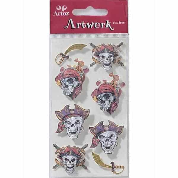 Pirate Skull Craft Embellishment By Artoz