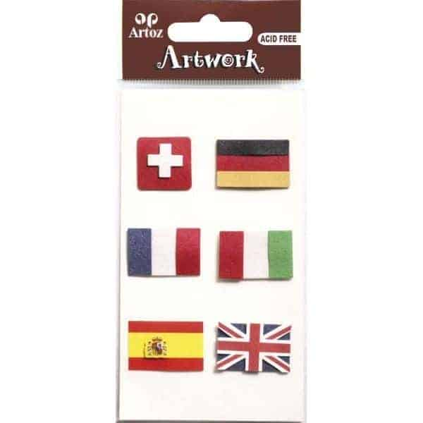 European Flags Craft Embellishment By Artoz