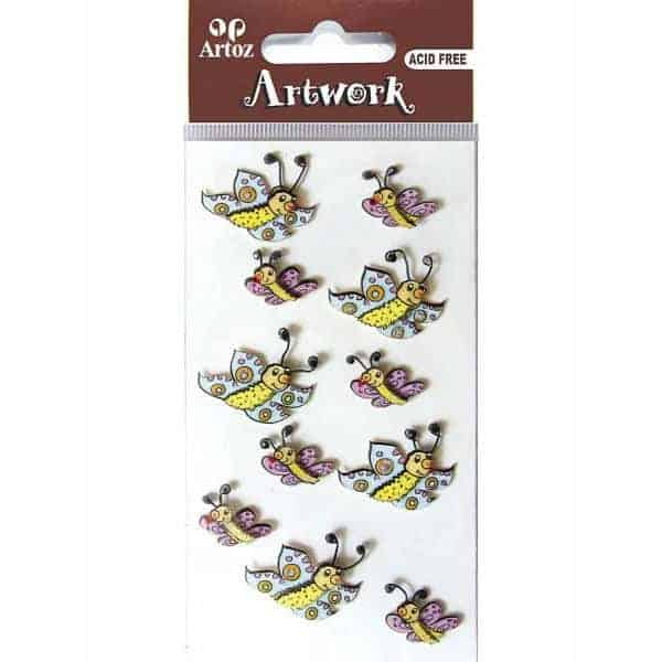 Smiling Butterfly Craft Embellishment By Artoz