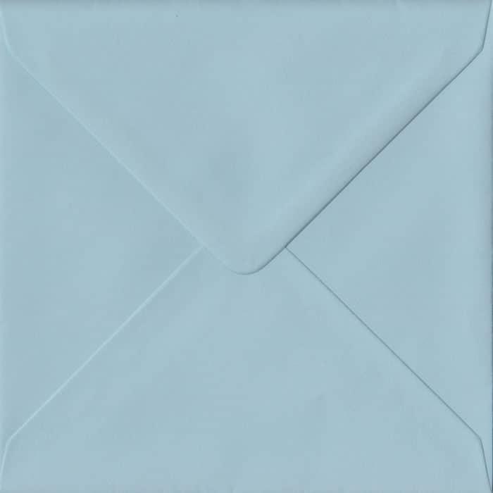 Baby Blue Pastel Gummed S4 155mm x 155mm Individual Coloured Envelope