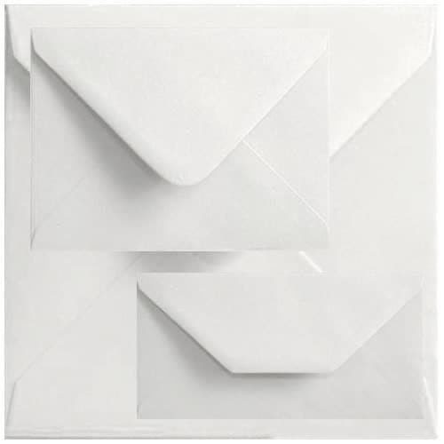 Economy Box Of 1000 110mm x 220mm White Gummed Envelopes