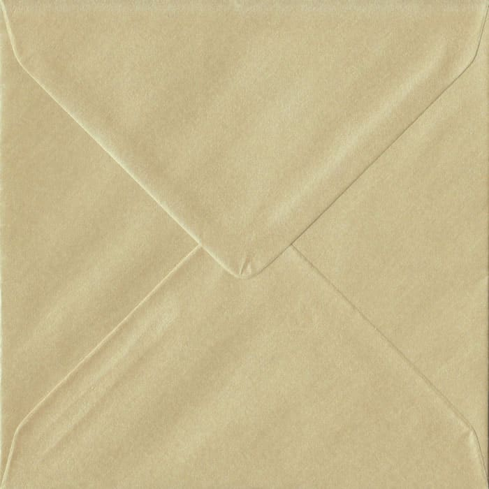 Champagne Pearlescent Gummed S6 130mm x 130mm Individual Coloured Envelope