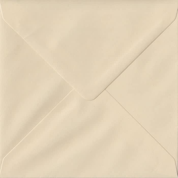 Cream Pastel Gummed S4 155mm x 155mm Individual Coloured Envelope