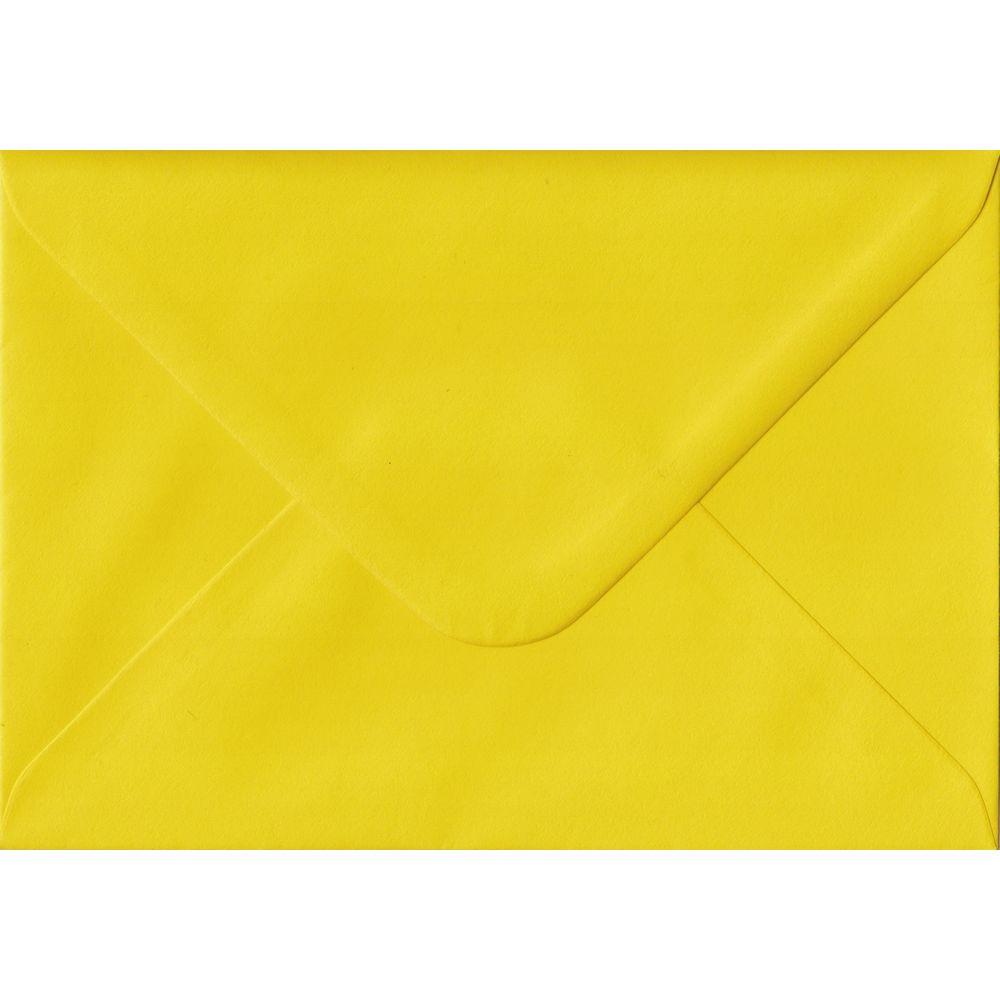 Daffodil Yellow Plain Gummed C6 114mm x 162mm Individual Coloured Envelope