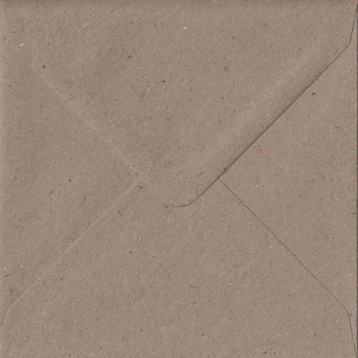 Fleck Craft Recycled Gummed S4 155mm x 155mm Individual Coloured Envelope
