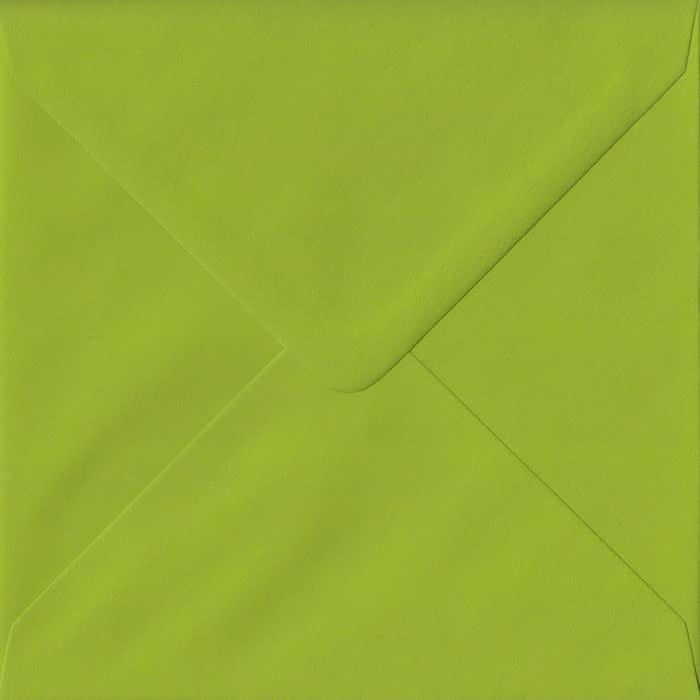 Fresh Green Plain Gummed S4 155mm x 155mm Individual Coloured Envelope