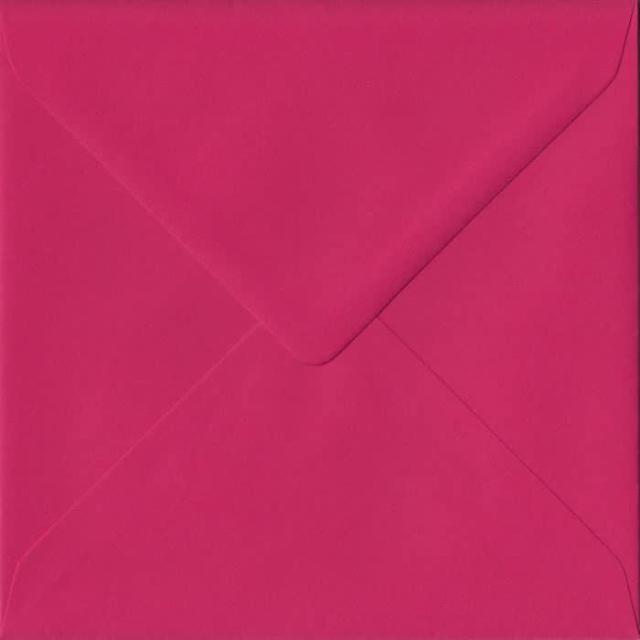 Fuchsia Pink Plain Gummed S4 155mm x 155mm Individual Coloured Envelope