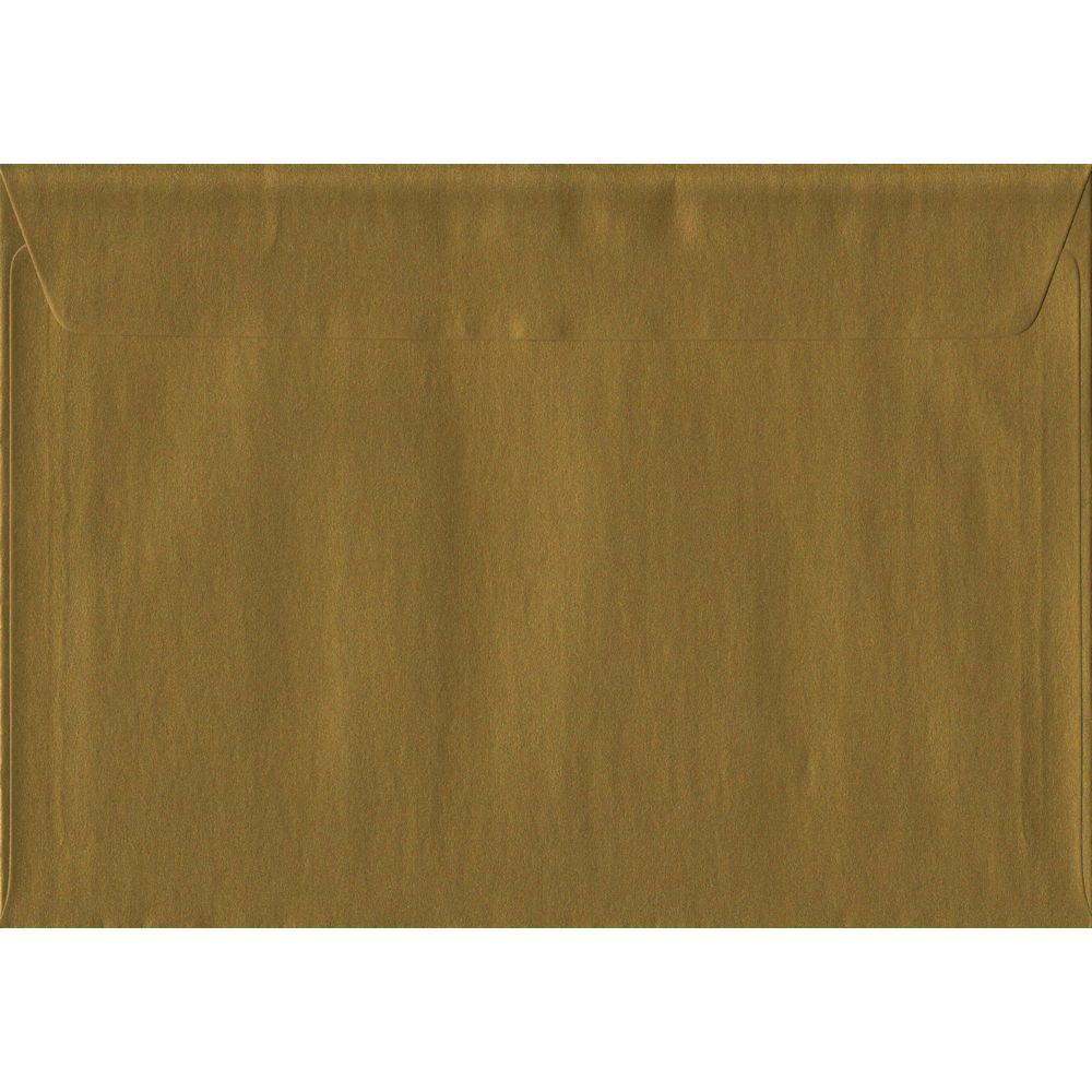 Gold Metallic Peel And Seal C5 162mm x 229mm Individual Coloured Envelope