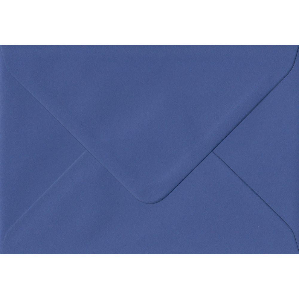 Iris Blue Plain Gummed C6 114mm x 162mm Individual Coloured Envelope