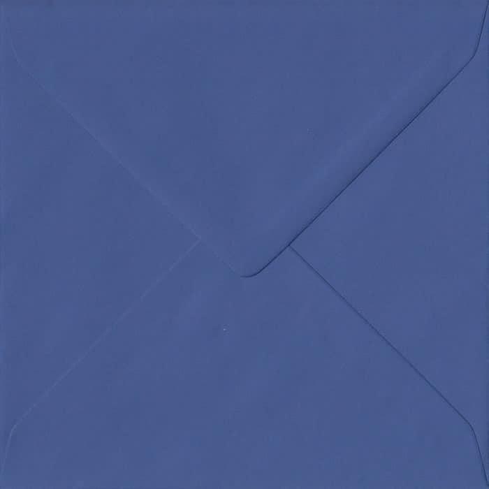 Iris Blue Plain Gummed S4 155mm x 155mm Individual Coloured Envelope