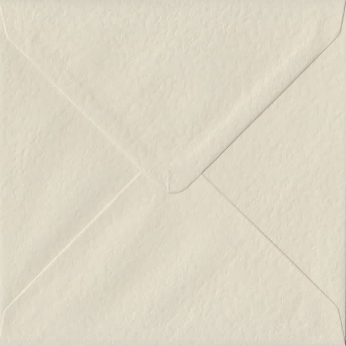 Ivory Hammer Textured Gummed S4 155mm x 155mm Individual Coloured Envelope