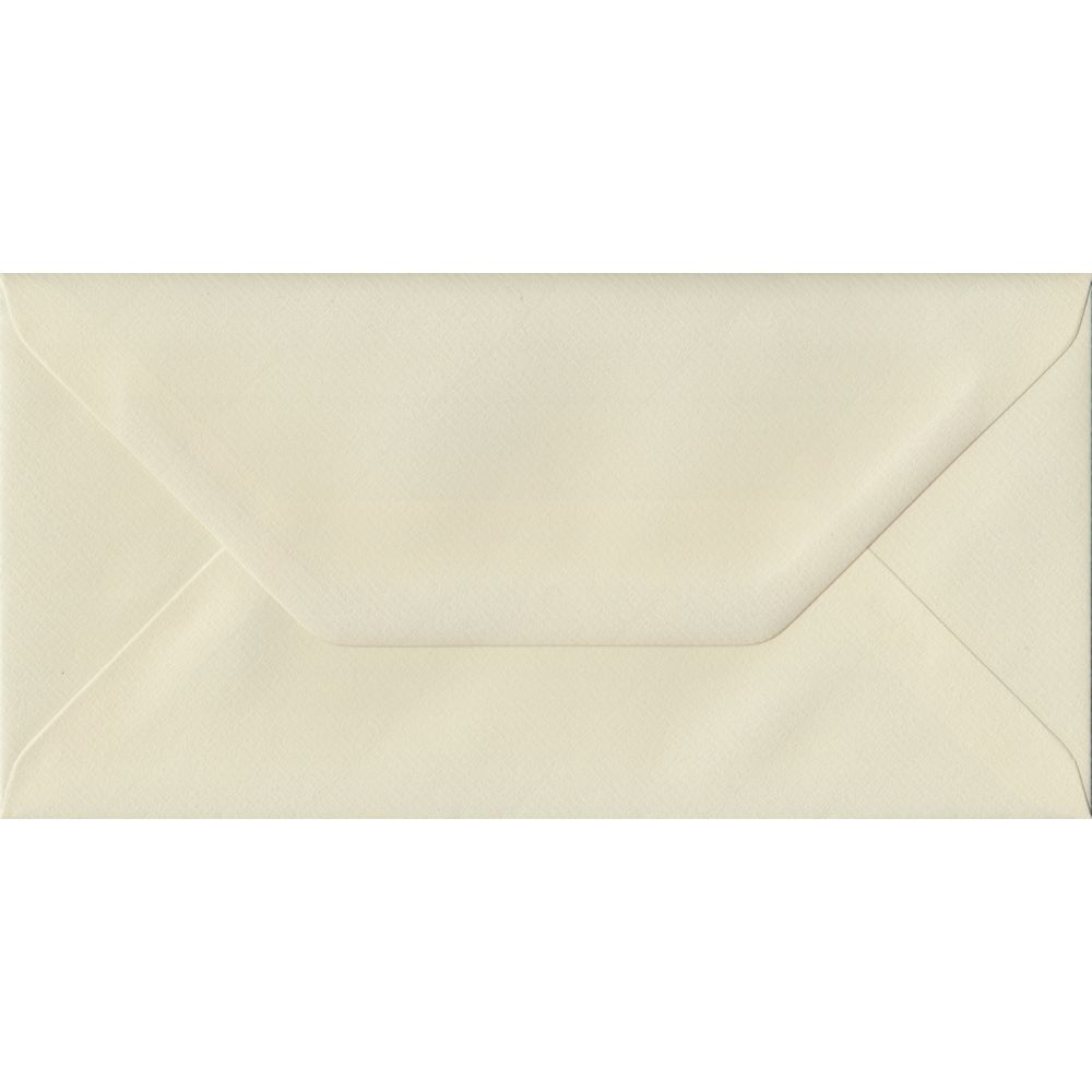 Ivory Laid Textured Gummed DL 110mm x 220mm Individual Coloured Envelope