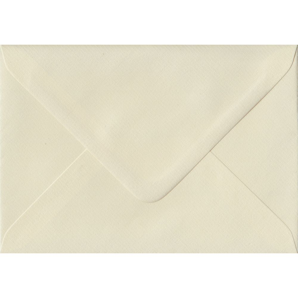 Ivory Hammer Textured Gummed G6 125mm x 175mm Individual Coloured Envelope