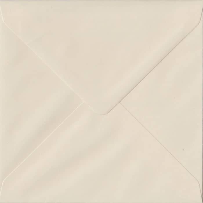 Ivory Pastel Gummed S4 155mm x 155mm Individual Coloured Envelope