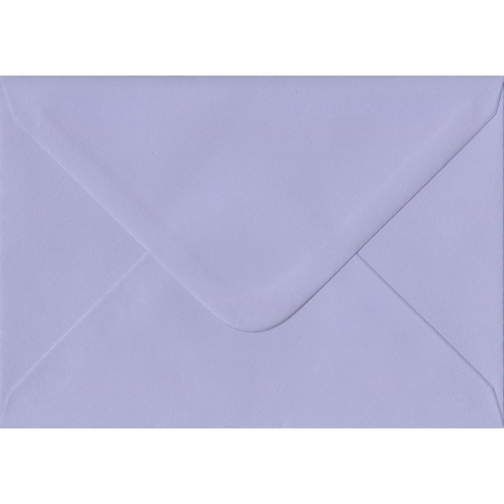 Lilac Pastel Gummed C6 114mm x 162mm Individual Coloured Envelope