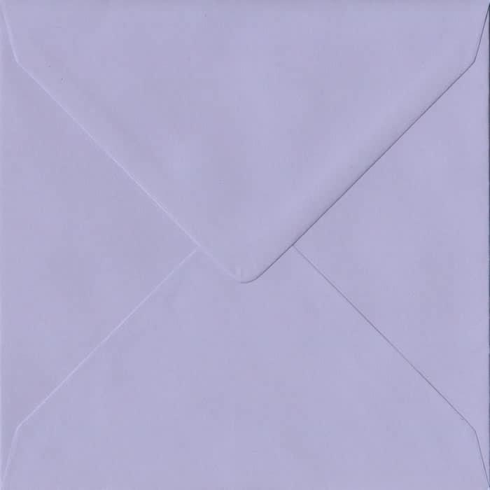 Lilac Pastel Gummed S4 155mm x 155mm Individual Coloured Envelope