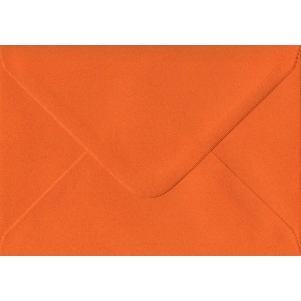 Orange Plain Gummed C6 114mm x 162mm Individual Coloured Envelope
